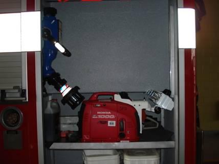 Blitzfire Portable Master Stream & Honda portable generator/light